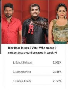 Bigg Boss3 Telugu Voting Result